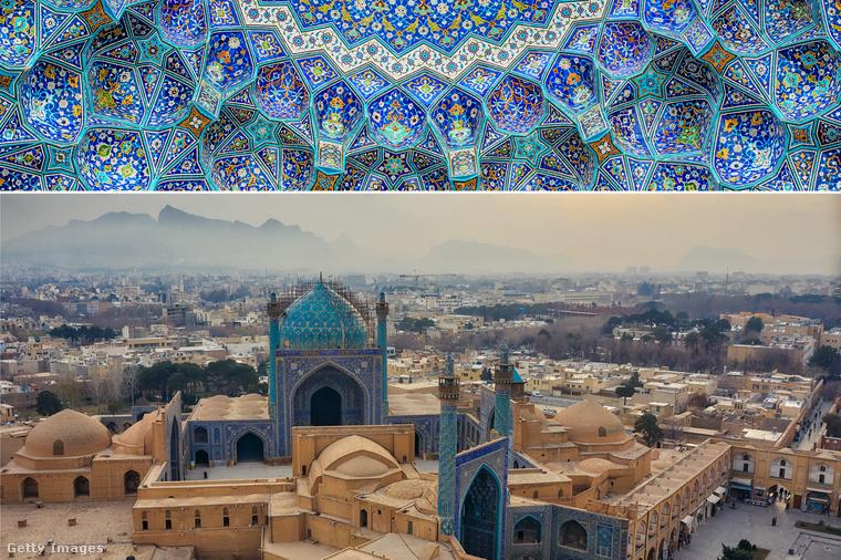 Sah-mecset − Iszfahán legnagyobb mecsete, a perzsa építészet egyik legnagyobb hatású alkotása az Imám-téren található, ami az iráni forradalomban lett híres