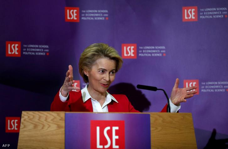 Ursula Von der Leyen a London School of Economics-on tartott előadásán 2020. január 8-án