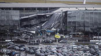 Tűzvész miatt omlott össze egy norvég reptér parkolója
