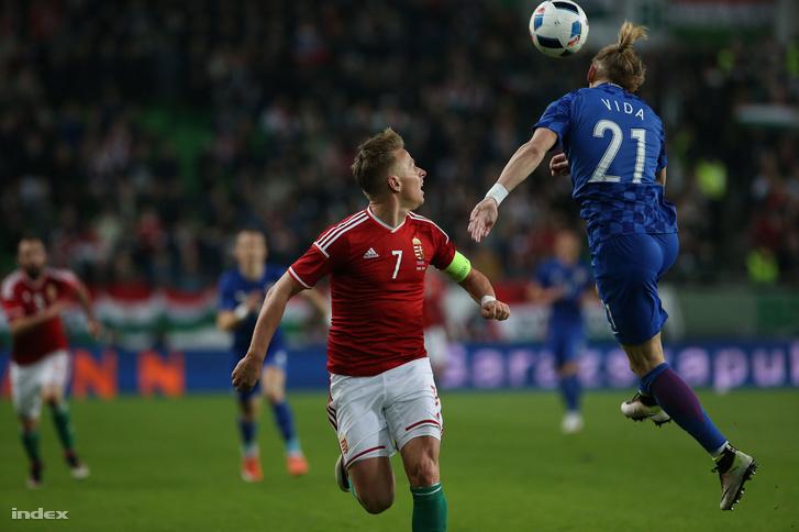 Magyarország - Horvátország labdarúgó Európa-bajnoki felkészülési mérkőzés 2016. március 26-án.