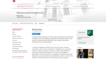A kormány bocsánatot kért a Helsinki Bizottságtól