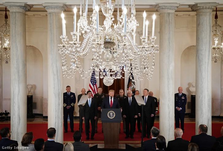 Donald Trump szerdai sajtótájékoztatója a Fehér Házban