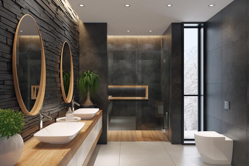 Egy szín, amit kevesen használnak a fürdőben, pedig baromi jól mutat – A fekete nagyon ízléses lehet