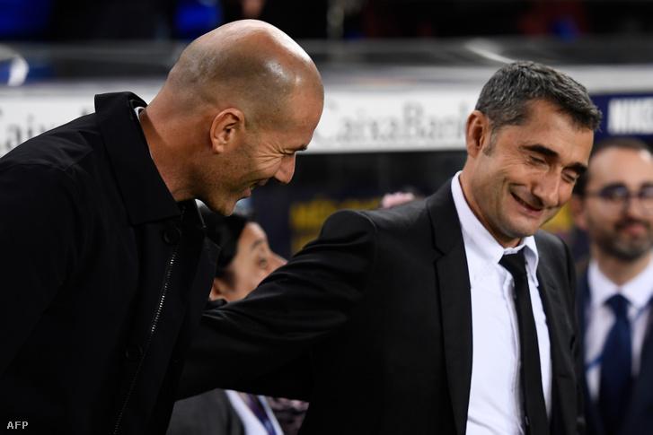 A Real-edző Zinedine Zidane és Valverde