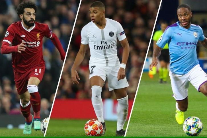 A top3: középen Mbappé, jobbján Szalah, balján Sterling
