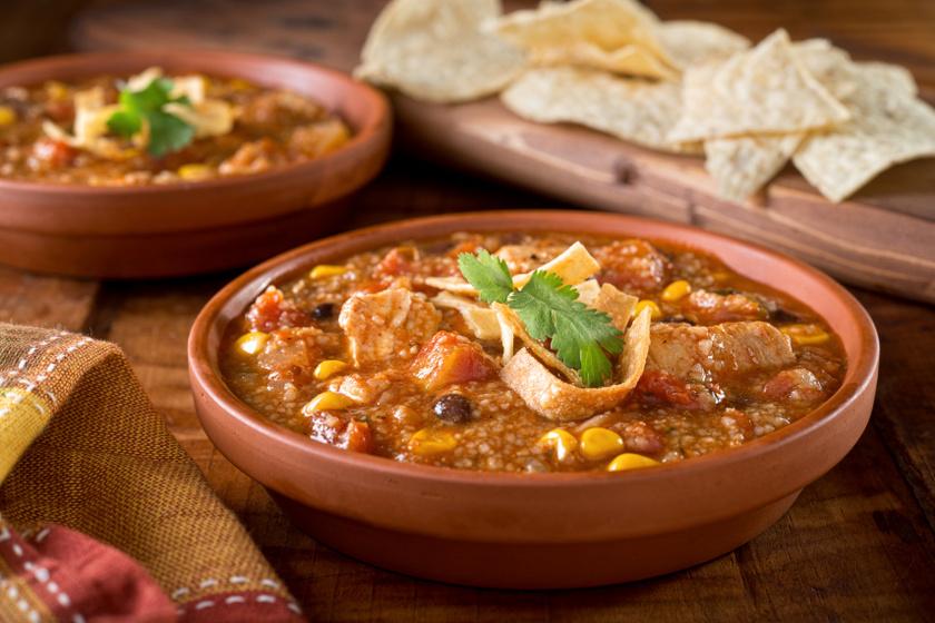 csirkés tortilla leves recept