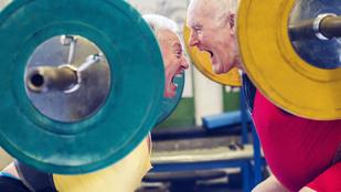 Így edz egy 81 éves súlyemelőbajnok