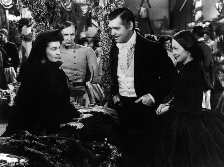 Vivien Leigh, Clark Gable és Olivia de Havilland (Elfújta a szél, 1939)