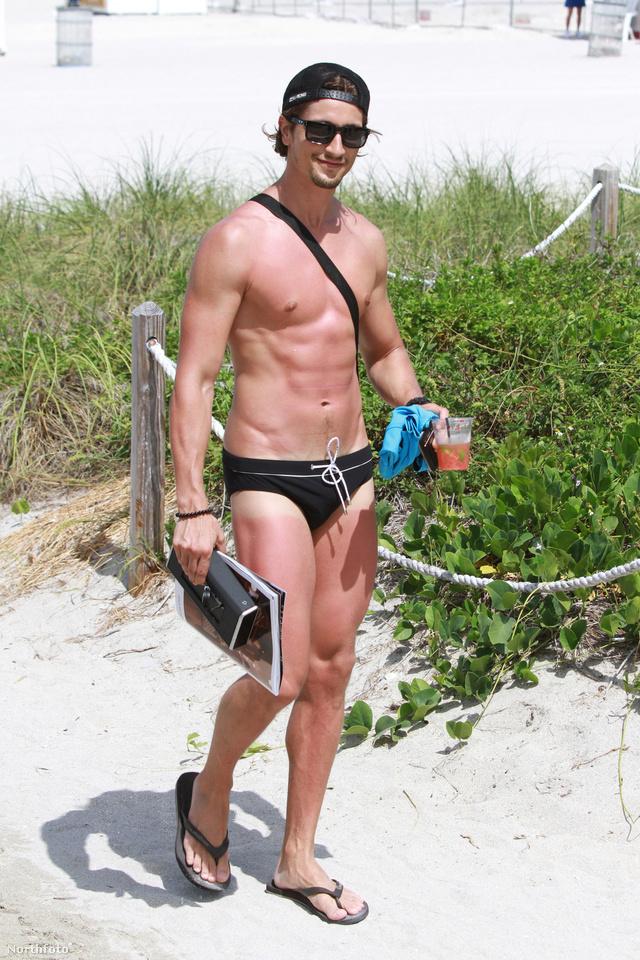 Hermann Nicoli a strandon Miamiben