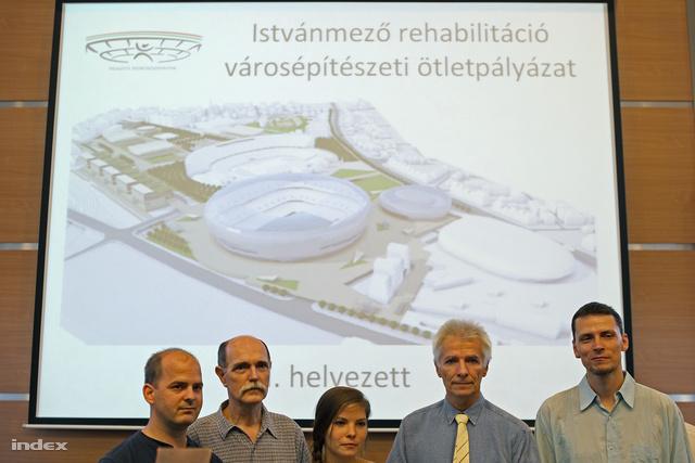 A II. helyezett pályamű tervezői.