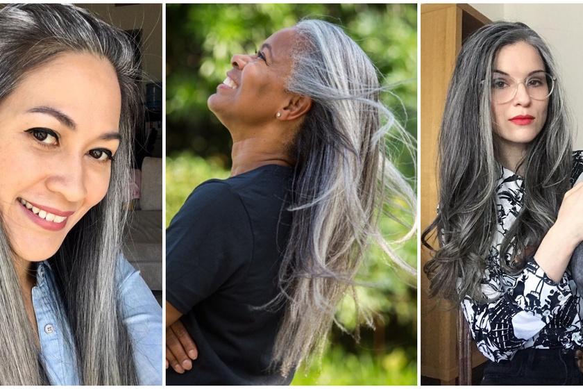 Gyönyörű fotók őszülő nőkről - Büszkén vállalják, amit sokan szégyellnek