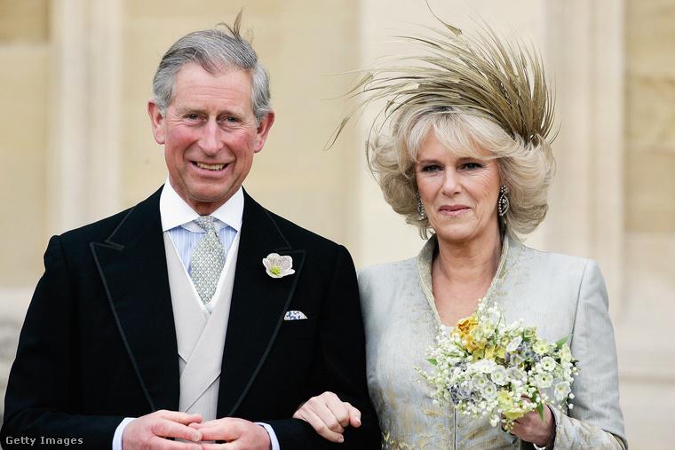 Károly herceg második feleségével.