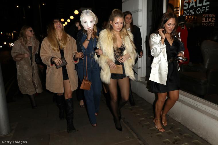 Ezek a képek január 9-én készültek Londonban, Chelsea-ben