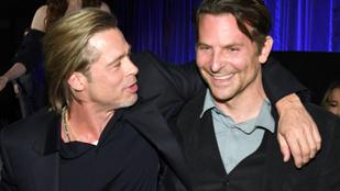 Brad Pitt megköszönte Bradley Coopernek, hogy segített neki leszokni az alkoholról