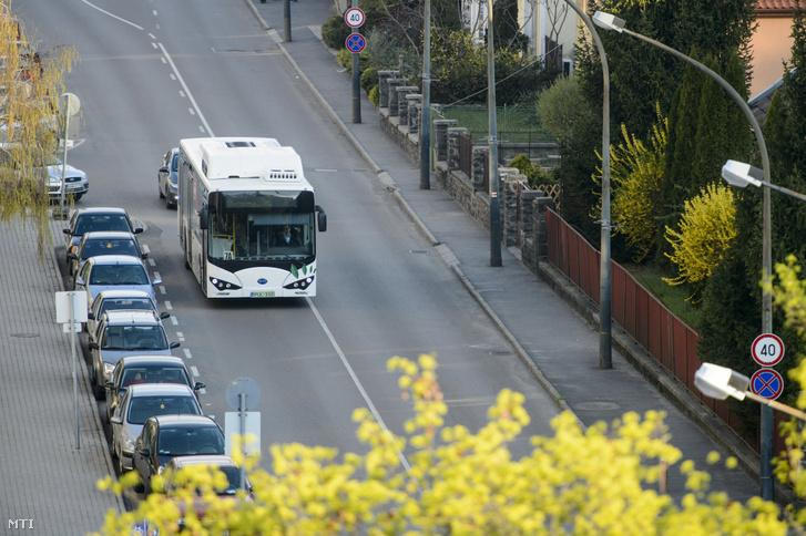 Salgótarján első a tömegközlekedésben forgalomba állított elektromos autóbusza 2019. április 15-én