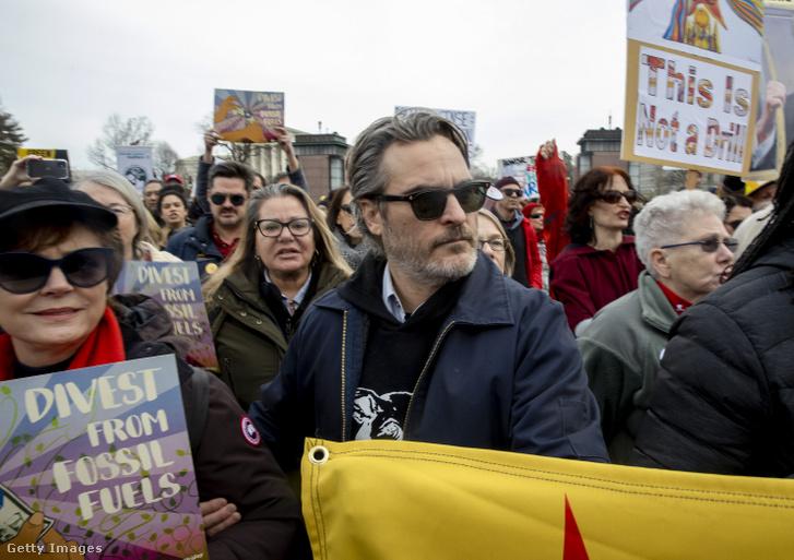 Joaquin Phoenix a tüntetésen