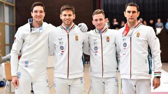 Az olimpiai bajnokot verte a férfi párbajtőrcsapat