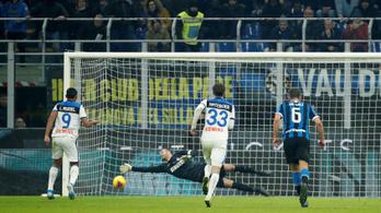 A véghajrában rontott büntető mentette meg az Intert