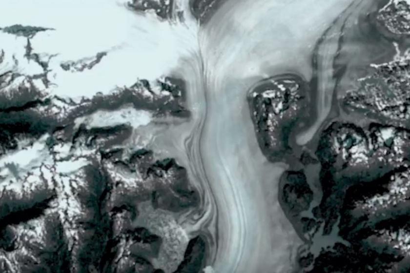 1973 - A Columbia-gleccsert egy évvel korábban kezdték el figyelni, ehhez képest jól megfigyelhetők a későbbi években a változások.