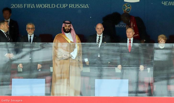 Mohammed bin Szalman a 2018-as Orosz-Szaúd-Arábia mérkőzésen Oroszországban