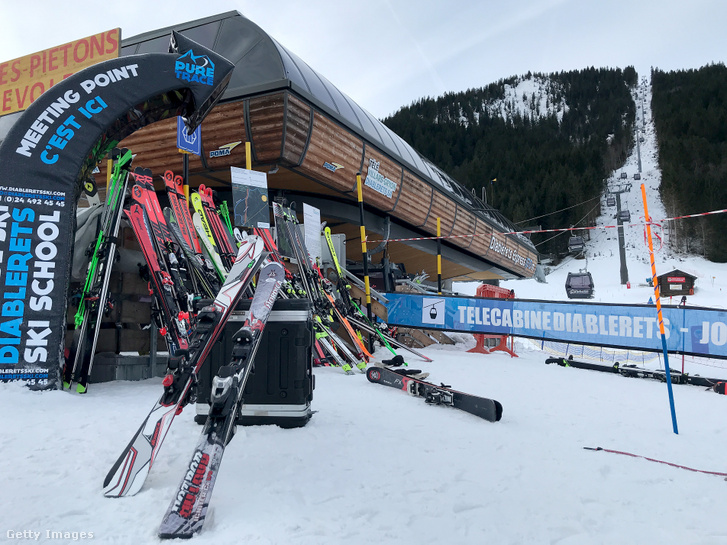 Az óriás-műlesiklás starthelye a lausanne-i téli ifjúsági olimpián