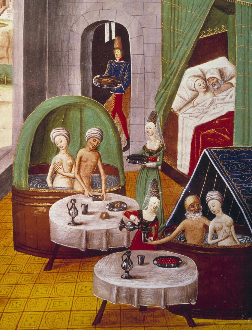 Középkori, bordélyként működő fürdő
