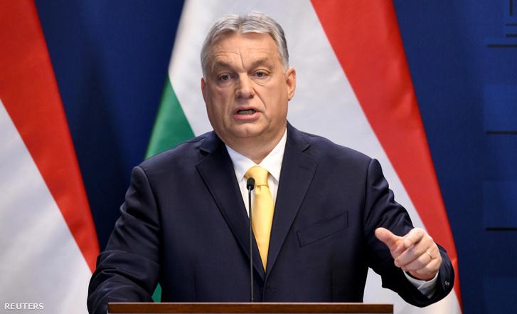 Orbán Viktor miniszterelnök évindító nemzetközi sajtótájékoztatóján 2020. január 9-én.