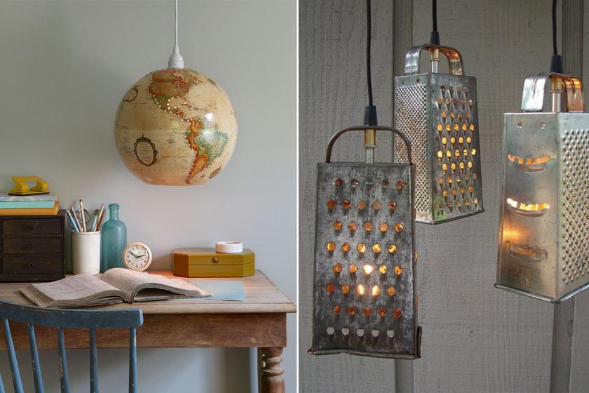 10+1 elképesztően dizájnos lámpa kidobott vacakokból: ezeket te is elkészítheted