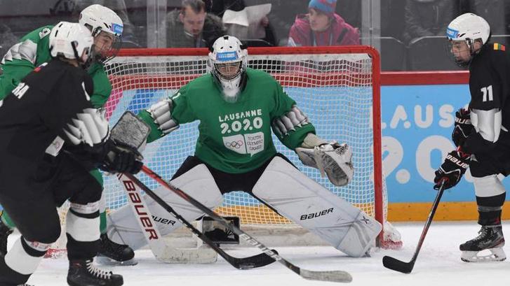 Hegedüs Levente védte a zöldek kapuját a téli ifjúsági olimpián