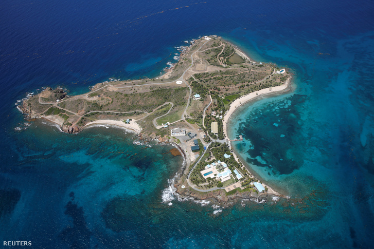 A Jeffrey Epstein birtokolta Virgin-szigetekhez tartozó Szent Jakab-sziget