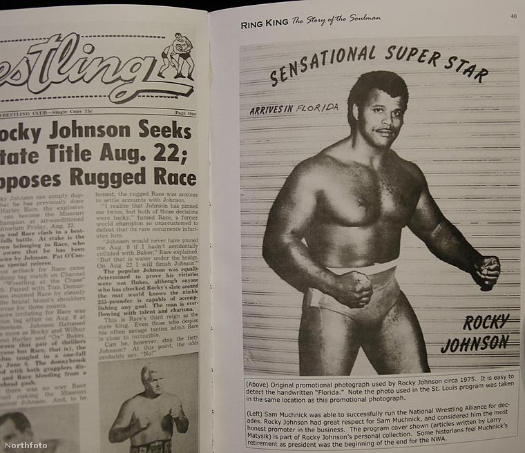 Íme egy kép a '70-es évekből Rocky Johnsonról.