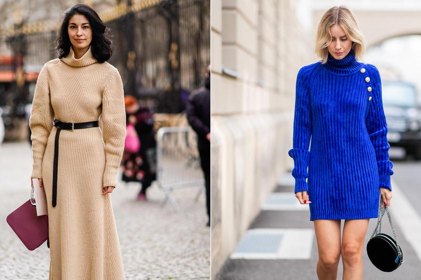 A kötött pulóverruha a szezon slágerdarabja: árakkal, lelőhelyekkel mutatjuk a legnőiesebb darabokat