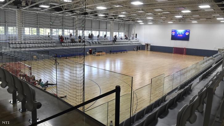 A Vasas SC újjáépített Sterbinszky Amália Kézilabdacsarnoka az ünnepélyes átadás napján 2019. szeptember 21-én.