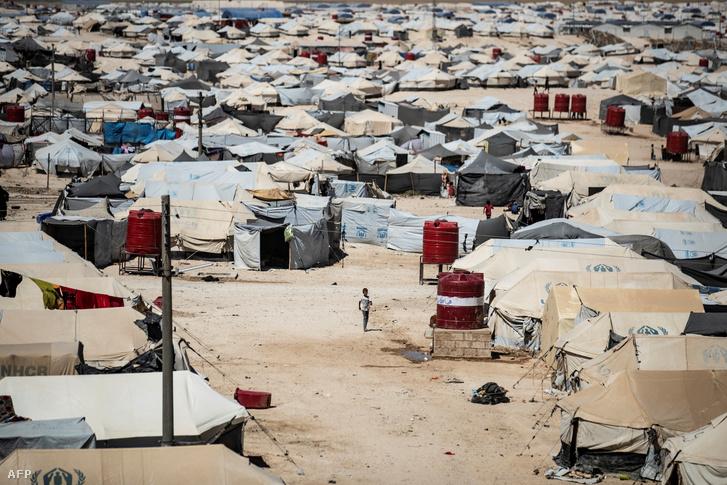 Az északkelet-szíriai al-Hol menekülttábor