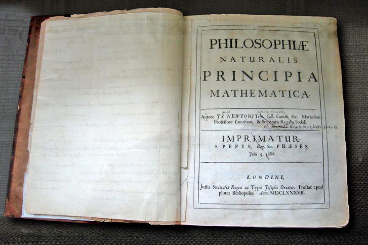Isaac Newton Philosophiae Naturalis Principia Mathematica című műve