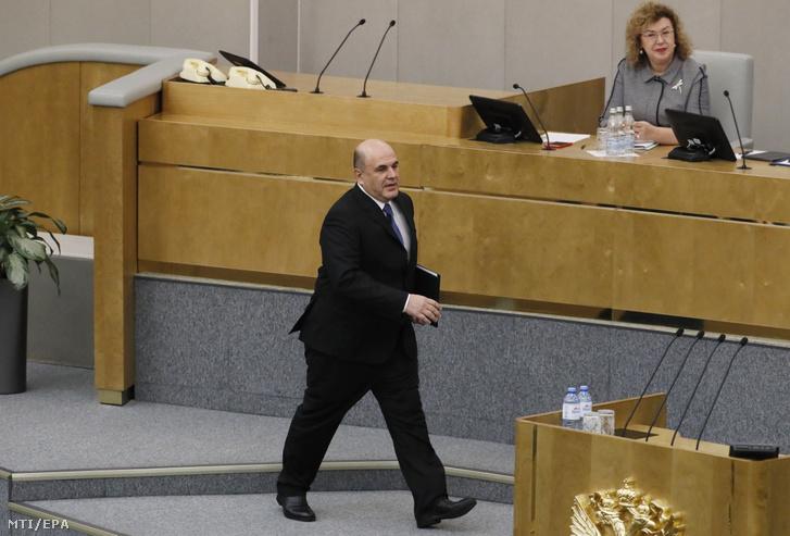 Mihail Misusztyin orosz miniszterelnök-jelölt az orosz parlamenti alsóház az Állami Duma moszkvai üléstermében 2020. január 16-án.
