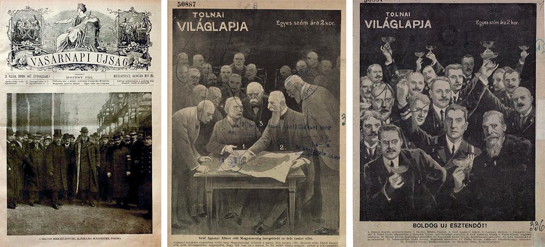 Korabeli újságok címlapjai