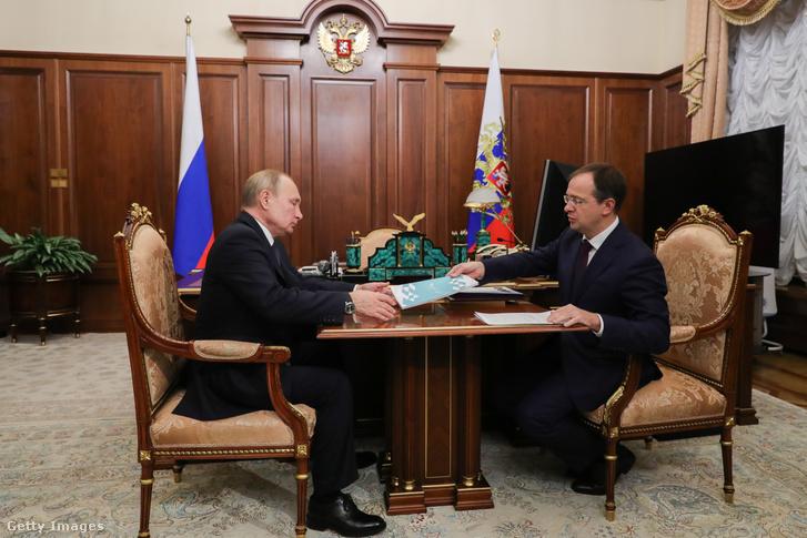Vlagyimir Putyin és Vlagyimir Megyinszkij