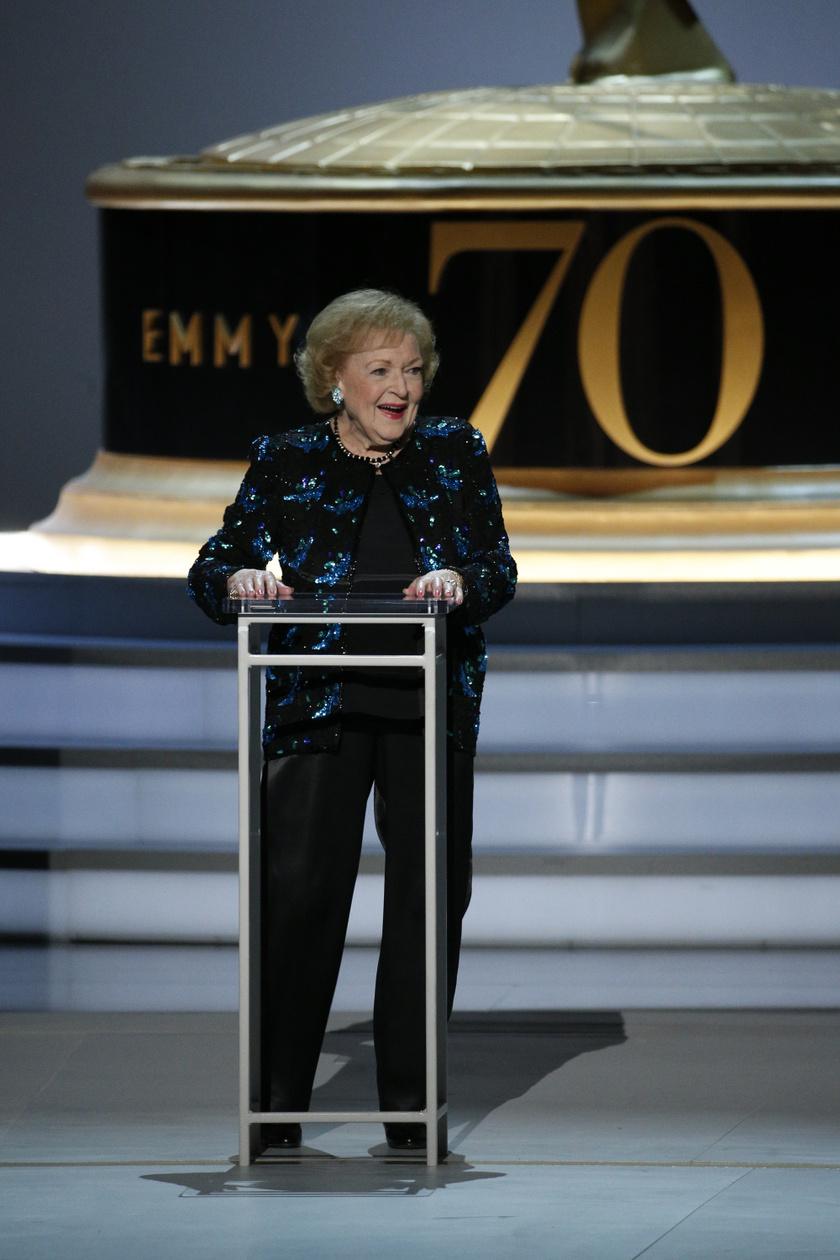 Betty White 2018-ban jelent meg utoljára az Emmy-gálán.