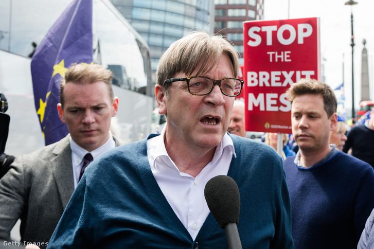 Verhofstadt egy Brexit-ellenes tüntetésen