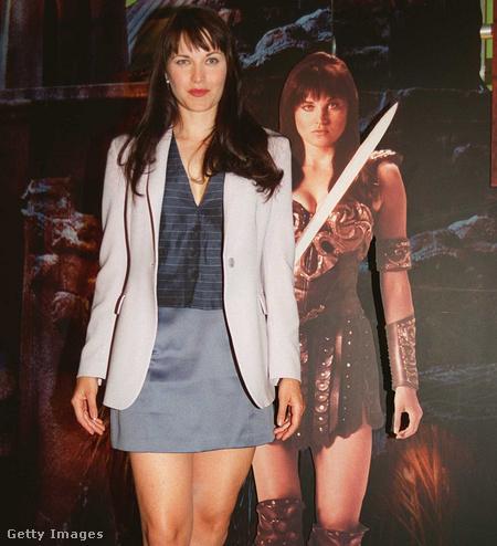Lucy Lawless egy bemutatón, még 1997-ben.