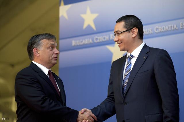 Orbán Viktor magyar és Victor Ponta román miniszterelnök