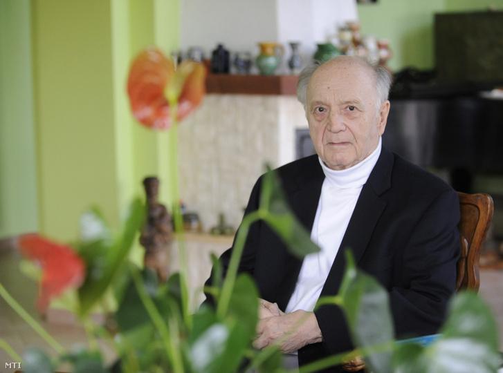 A 2016-ban Kossuth-nagydíjjal kitüntetett Makkai Ádám budapesti otthonában