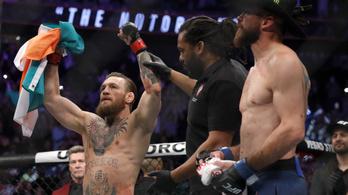 McGregor visszatért, és 40 másodperc alatt, soha nem látott módon semmisítette meg ellenfelét