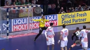 Győzelmet ért a horvát kézikapus utolsó pillanatos bravúrja