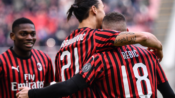 A Milan 93. perces góllal nyert, Ibrahimovic rekordot döntött