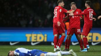 A Bayern egy fél óra alatt kiütötte a Herthát