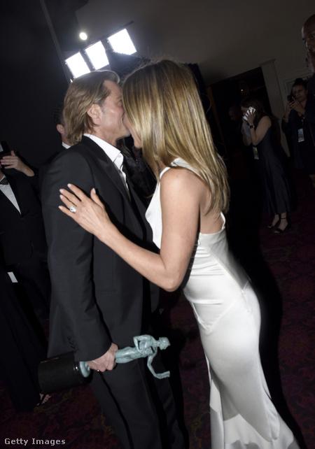 Jennifer Aniston és Brad Pitt a SAG Awardson. 2020 január