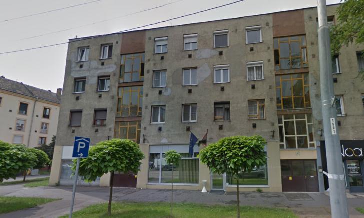 Épület amelyben a Miskolci Áldozatsegítő Központ működik a Bajcsy-Zsilinszky utcában