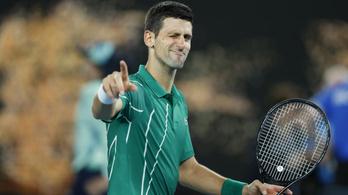 Djokovic 900. győzelmével ment tovább az AusOpenen